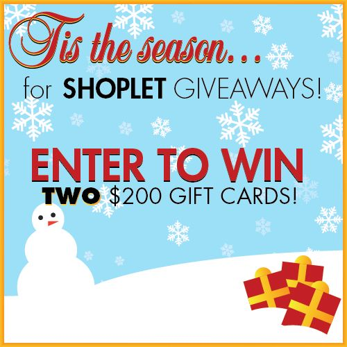 We are giving away TWO $200 gift cards to Shoplet.com for our Holiday #GIVEAWAY! Here's how to #win: Follow Shoplet on Pinterest, repin this post, go to the Shoplet Blog each day November 18th-December 15th & tell us which item on Shoplet.com you want for the holiday season most! Good luck, everyone :): Giveaways Contest Boards, 200 Gifts, Contest Sweepstak, Holidays Giveaways, Gifts Cards, 11 181 Holidays, Holidays Fun, Holidays Seasons, Offices Supplies