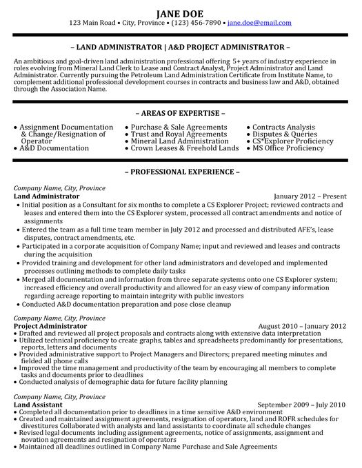 Click here to download this Administrator Resume Sample:  http://www.resumetarget. Oil RigOil ...
