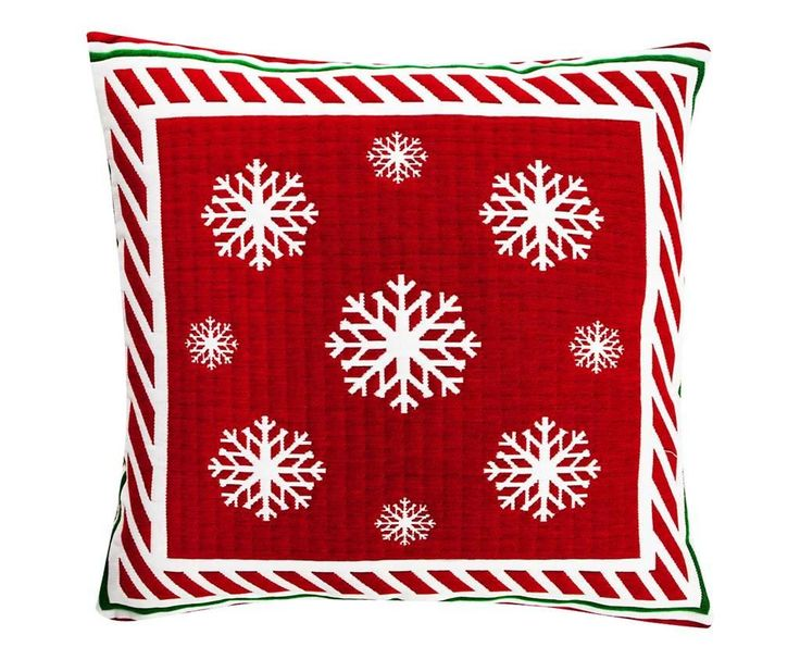 Snowflakes Dream Red Párnahuzat 50x50 cm - Vivre