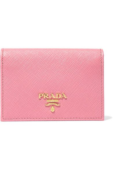 Prada - Textured-leather Cardholder - Pink - one size