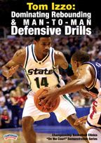 #Basketball DVD - Tom Izzo: Dominating Rebounding & Man-to-Man Defensive Drills - Coach's Clipboard Basketball DVD Store