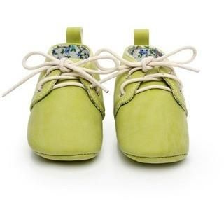 Pre-Walking PU Suede Leather Oxford Slippers
