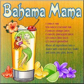 Bahama Mama Mixed Drink Recipe