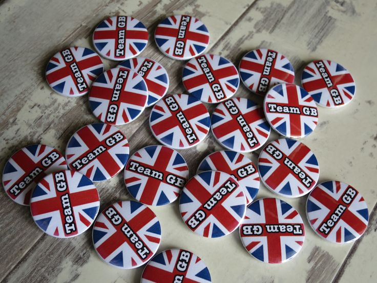 team GB badges. Hand made in the UK & only 75p each.