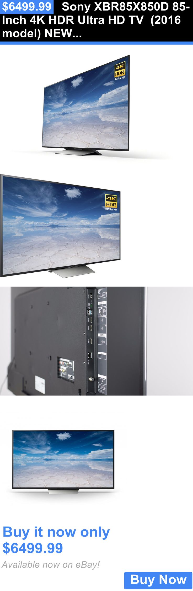Televisions: Sony Xbr85x850d 85-Inch 4K Hdr Ultra Hd Tv (2016 Model) New - Sony Warranty BUY IT NOW ONLY: $6499.99