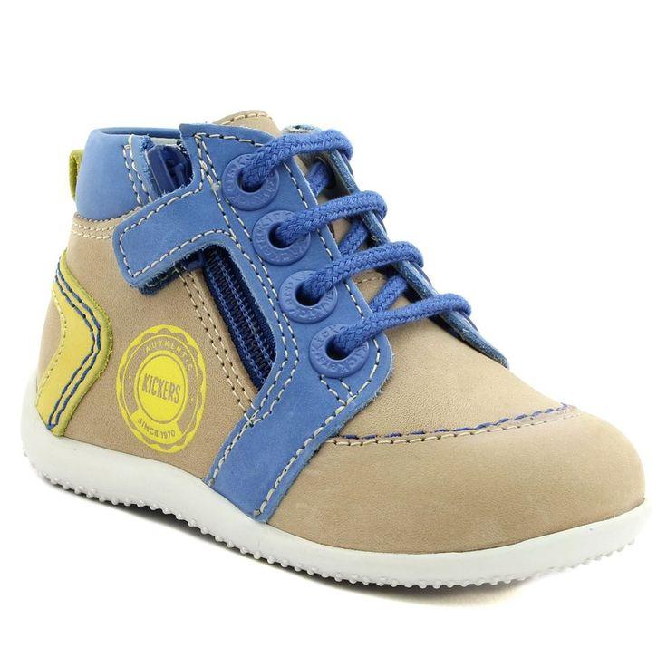 496A KICKERS BAMBI BEIGE www.ouistiti.shoes le spécialiste internet #chaussures #bébé, #enfant, #fille, #garcon, #junior et #femme collection printemps été 2017