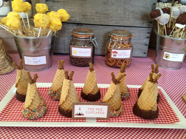 Tee Pee Cupcakes Lasso Pretzels Gold Nuggets Cake Pops