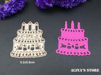 Торт ко дню рождения DIY высечки записки свечи Карты резки стали умирает металла эскиз трафареты шаблона die cuts празднование украсить