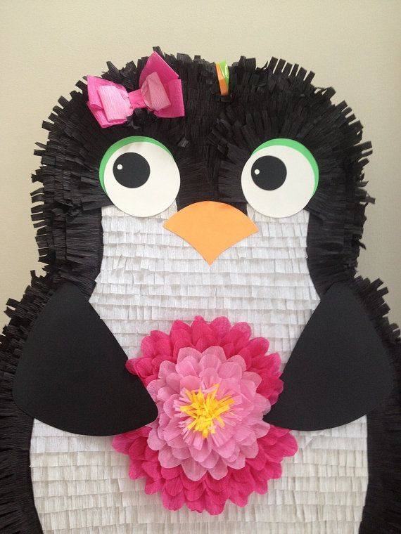 Girl Penguin Pinata. Large Customizable Penguin por AbitaAchie