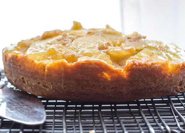 An Easy Caramel Upside Down Apple Cake, a fast and delicious Fall ...