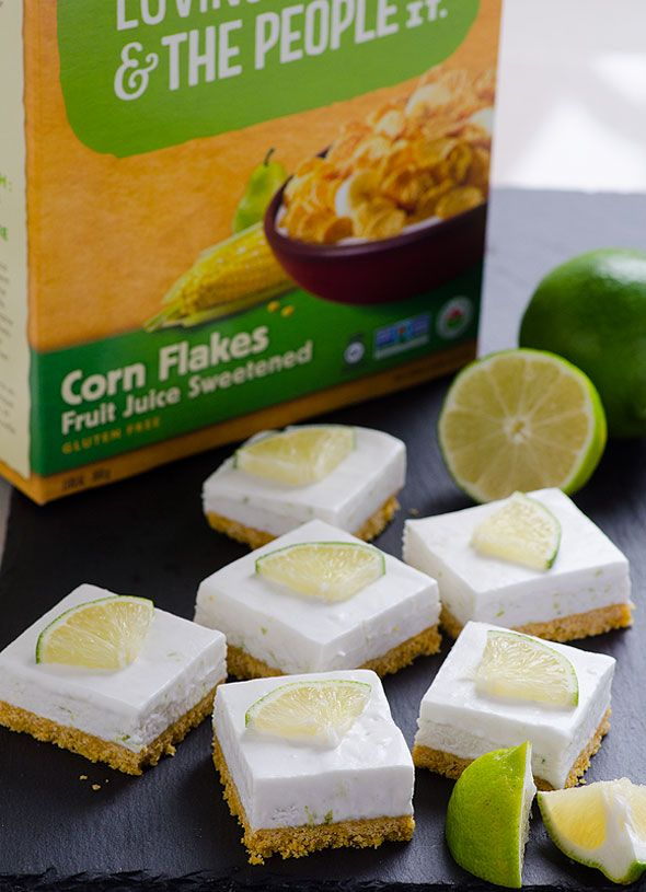 Healthy Key Lime Pie Bars Recipe made easy with coconut milk, coconut oil, maple syrup and gluten free crust, no baking required.   ifoodreal.com
