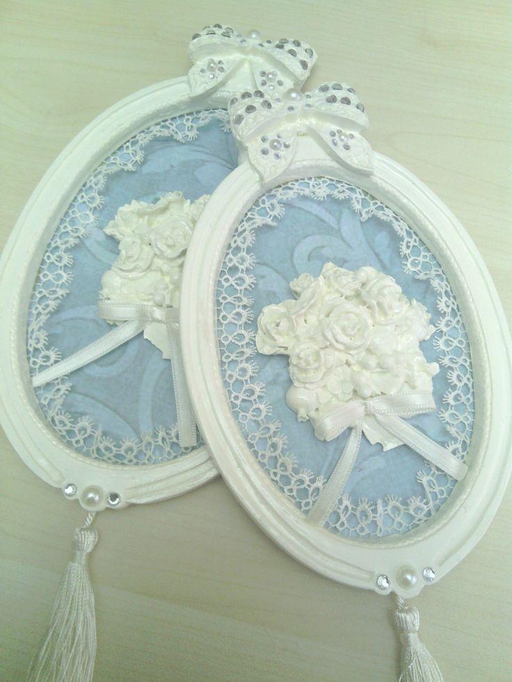 beyaz  renk çiçekli 2 li  polyester panolar