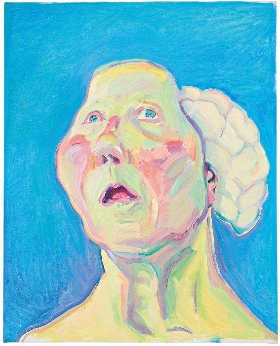 Maria Lassnig, Lady with Brain c.1990