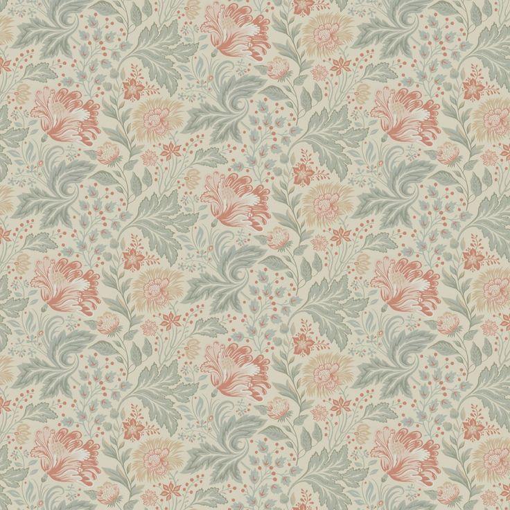 Tapet 'Ava Beige' - Brunnsnäs Collection - Sandberg | Med Ava får du ett rum med slingrande blomsterprakt, det vackraste man kan tänka sig. Ett helt nytt mönster för stora rum, målad med tanke på lust och fägring. Ge dig hän och låt dig omfamnas av blomsterprakten.