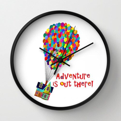 """10"""" Disney's Pixar's Up! Adventure is Out There! Wall Clock by foreverwars on Etsy https://www.etsy.com/listing/203291482/10-disneys-pixars-up-adventure-is-out"""