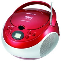 Naxa Portable MP3/CD Player with AM/FM Stere (NPB-252RED / NPB252RED)