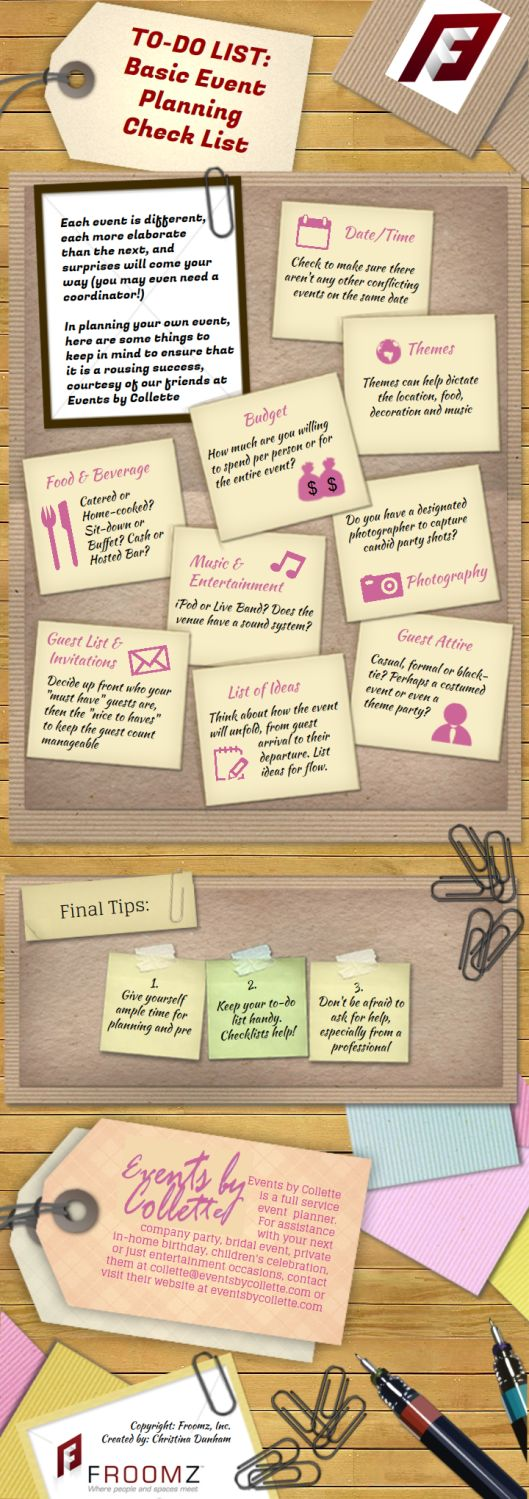 Event Checklist c/o Events by Collette