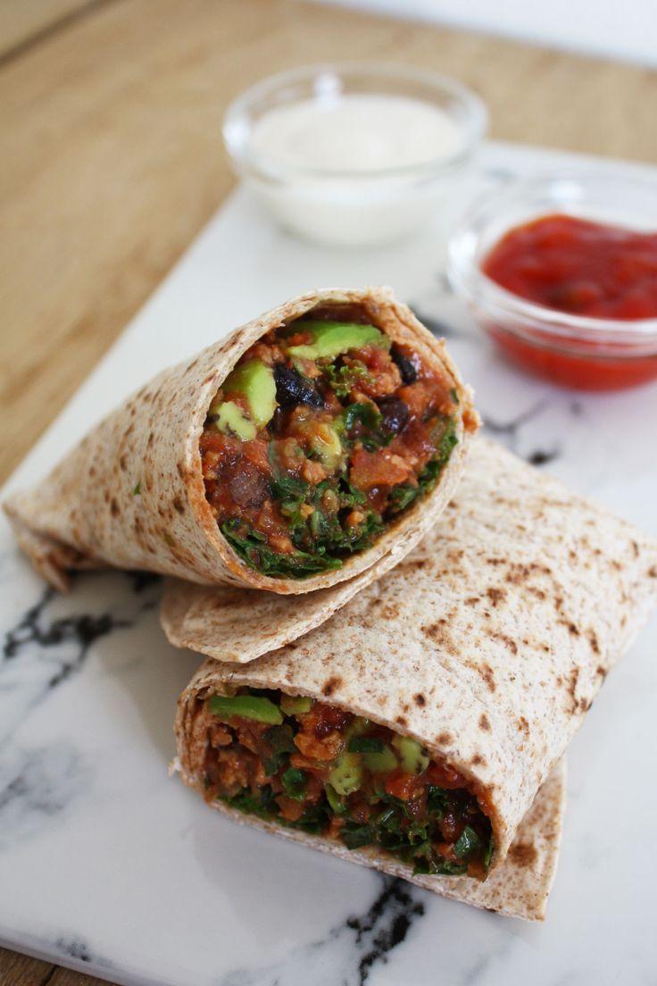 Wraps med kødFRI sovs og grønkål - vegansk