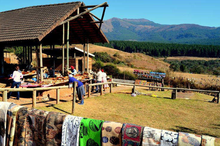 The craft market at Mac Mac Falls, Mpumalanga by Rosemary Hall