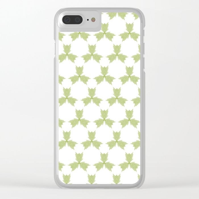 Shop clear iPhone cases featuring brilliant patterns and designs on frosted, transparent shells - created by the world's best independent artists. three, leaves, green, pattern, group, white, gentle, digital, society6, gifts, shopping, buy, sell, unique #artwork #abstract #green #greenleaves #society6