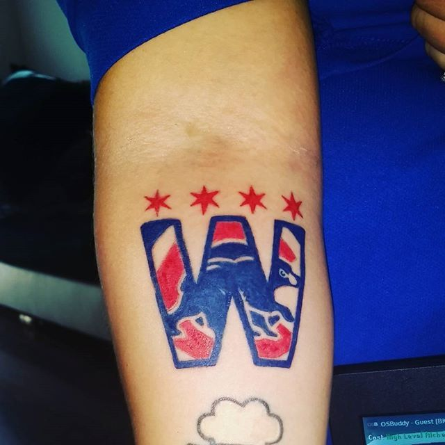 Absolutely love it!!! GO CUBS!!! WORLD CHAMPS!!!⚾⚾⚾⚾⚾ Only thing missing is the 2016 which is @this2willcome2pass has to finish⚾⚾⚾⚾⚾ #gocubs #tattoo #cubstattoo #chitowntattoo #love #mycity #cubs #flythew #worldseries2016 #champions #chicagocubs