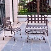 Found it at Wayfair - Santa Fe Iron Patio 3 Piece Lounge Seating Group will add cushions and other flair