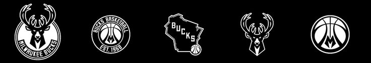 Milwaukee Bucks logo - all - black and white