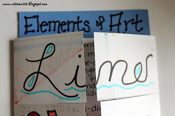 Art Room 104: Studio Art: The Elements of Art (And Prang Markers!)
