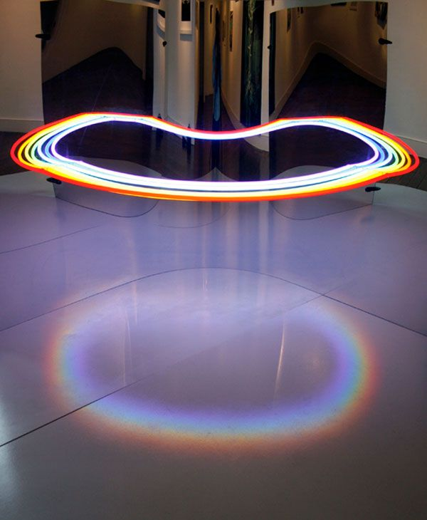 Mirrored Neon Lights Optical Illusion - My Modern Metropolis.  Repin from Tanya Rose.