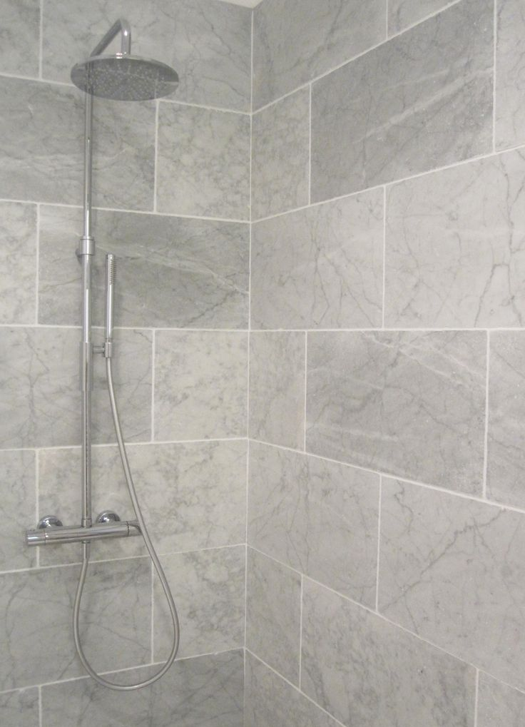 Bathroom Tiles Design Grey : Best ideas about large tile shower on