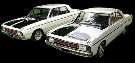 1970 Australian Valiant Pacers ( 4 door & 2 door based on the Dodge Dart)