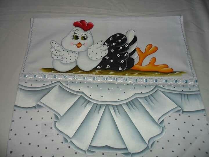 Pintura em tecido por Marlene Rocha