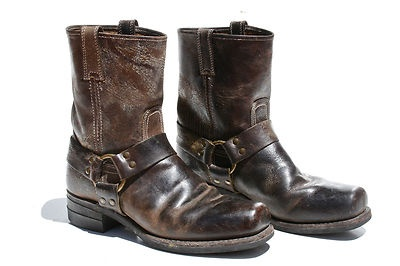 Mens Frye Distressed Leather Harness Motorcycle Biker Boots Sz 10 D | eBay