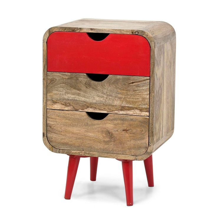 Red 3-Drawer Bedside | Me & My Trend