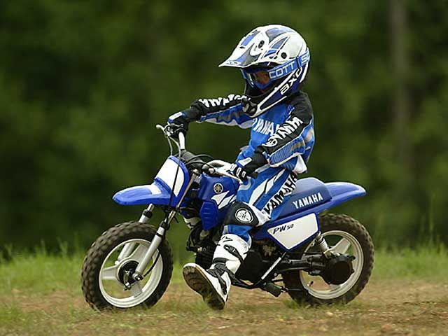 Kids will love the fact that the PW looks just like the big bikes they see on tv…