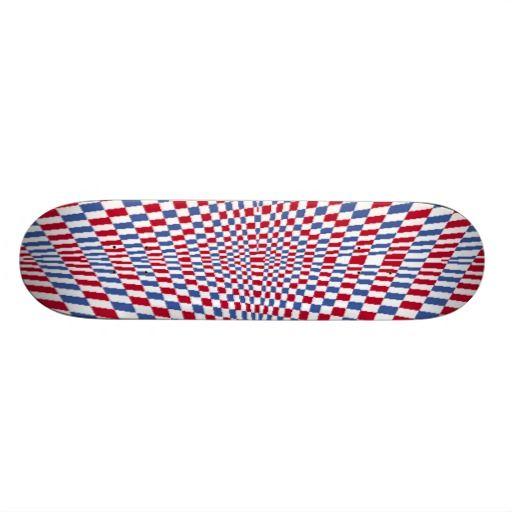 Warping square stylish pattern skateboard decks