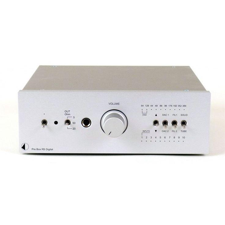 PRO-JECT PRE BOX RS DIGITAL SILVER PREAMPLIFICATORE A VALVOLE CON TELECOMANDO