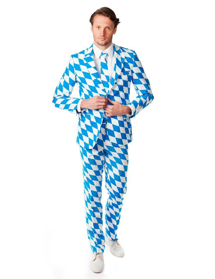 Costume Mr. Bavarois homme Opposuits™ : Ce déguisement de Mr. Bavaroispour homme est de la marque Opposuits™.Il se compose d'une veste, d'une cravate et d'un pantalon (chemise et chaussures non incluses). Le...