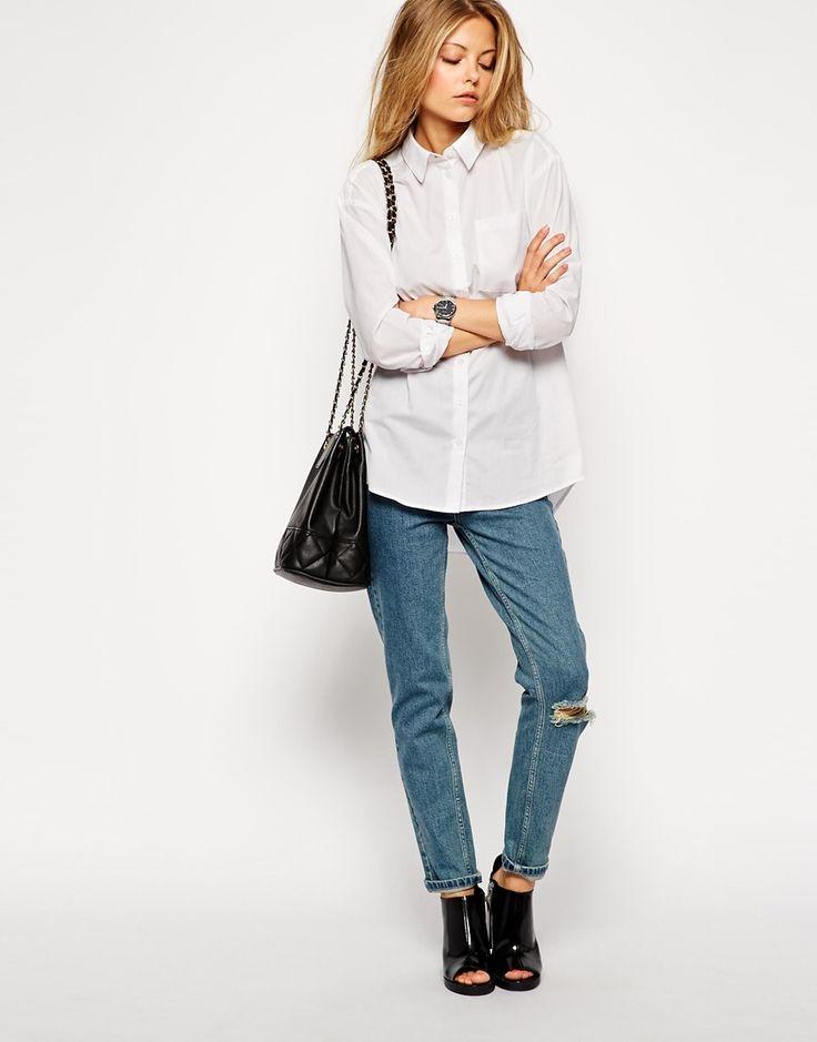 Image 4 ofASOS Boyfriend White Shirt