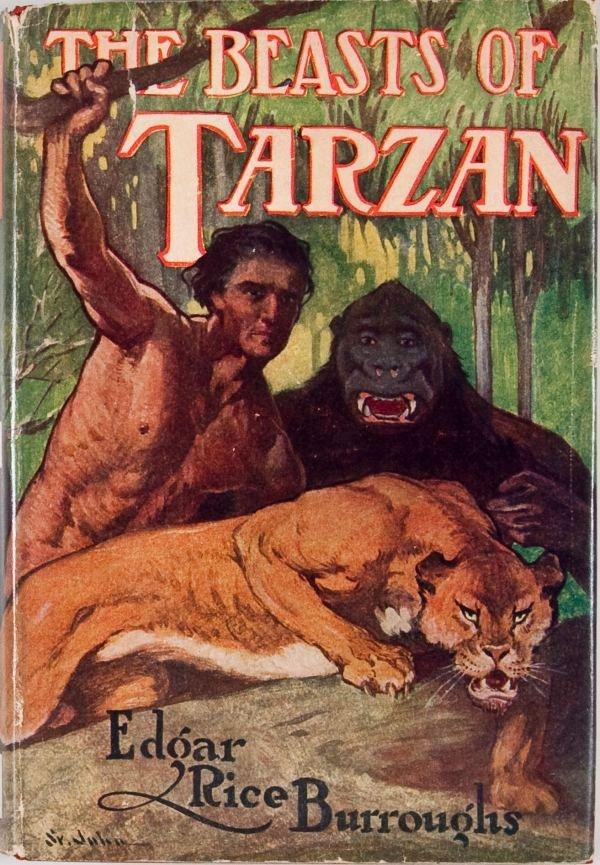 Beasts of Tarzan book cover by J. Allen St. John.