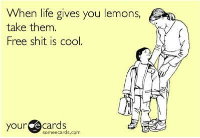 Some E cards. plus lemons can be expensive
