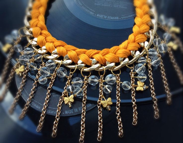 Orange Braided Necklace