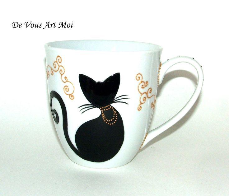 Tassen Jumbo : Gros mug jumbo en porcelaine d?cor? ? la main quot collection