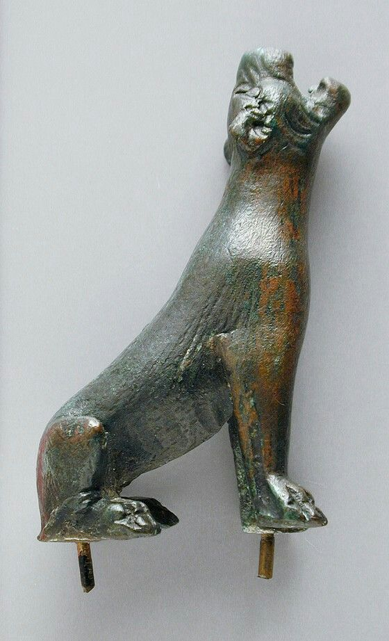 Cast bronze sculpture of a howling lion. Roman. 1st century B.C.- 2nd century A.D. | Los Angeles County Museum of Art