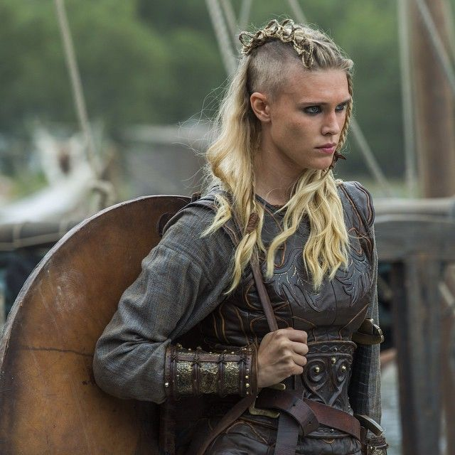"""""""Porunn is ready to march into battle & is looking fiercer than ever before! What do the gods have in store for the young shield maiden? #Vikings"""""""