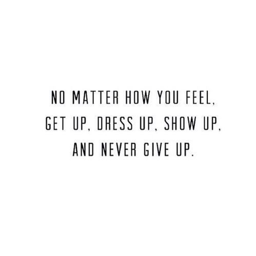 never give up//
