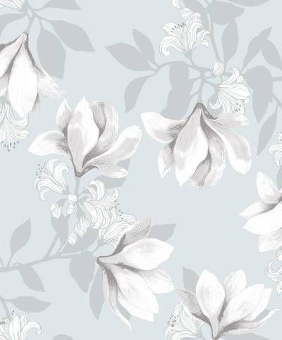 Tanja Orsjoen suunnittelema tunnelmallinen ja maalauksellinen Magnolia-tapetti on kaunis tapa sisustaa kotiin rauhallista ja eleganttia tunnelmaa. Tilaa Vallilan tapetit edullisesti netistä!