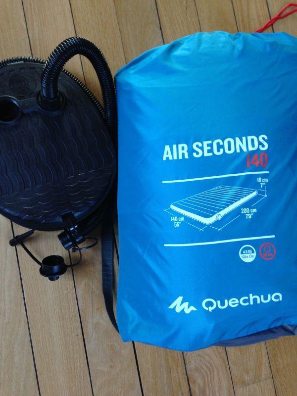 Matelas gonflable 140x200 Décathlon (air seconds)Loué avec gonfleur.