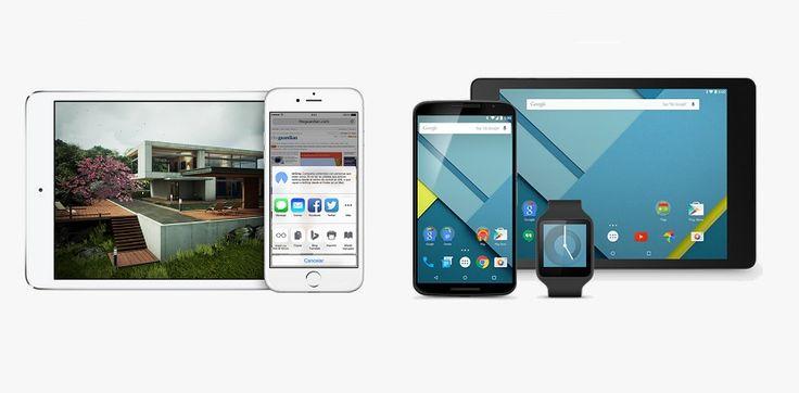 Comparamos el diseño de iOS 8.1 vs el de Android 5 Lollipop