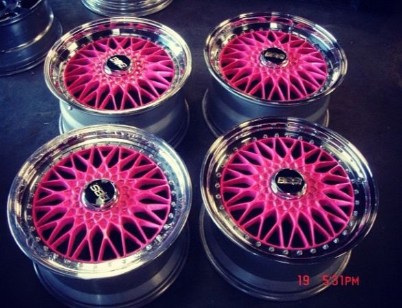 BBS WHEELS! Not pink but these are a sick design